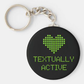 Textually Active - keychain