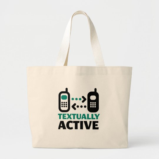 Textually Active Large Tote Bag