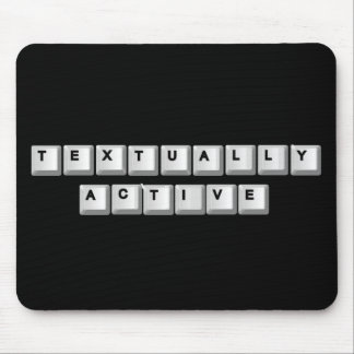 textually active. mouse pad