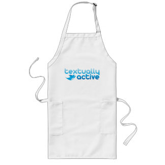 Textually Active on Twitter Texting Trendy Long Apron