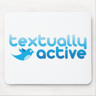 Textually Active on Twitter Texting Trendy Mouse Pad
