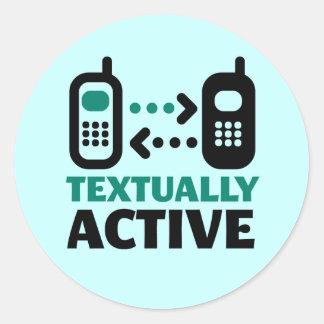 Textually Active Round Sticker