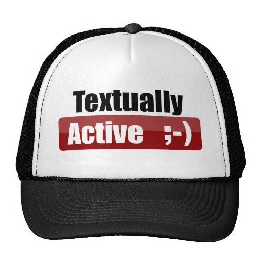 Textually Active Trucker Hat