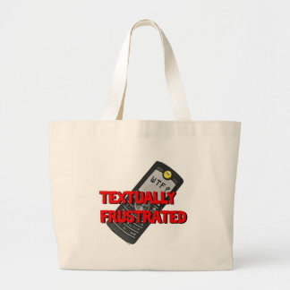 Textually Frustrated Tote Bags