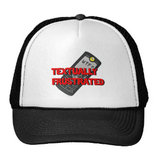 Textually Frustrated Trucker Hats