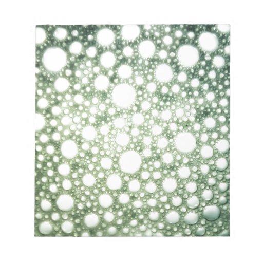 Textura 1 de las burbujas bloc de notas