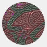 Textura 1 pegatina redonda