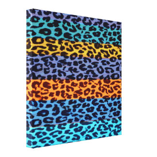 Textura 3 del extracto de la piel del leopardo del impresión en lienzo