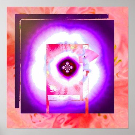 Textura 3c de la sombra poster