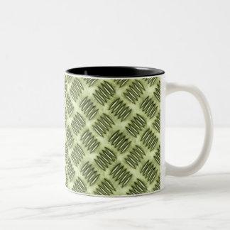 Textura a cuadros del suelo del acero inoxidable taza de dos tonos
