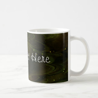 Textura abstracta de la nebulosa - amarillo taza de café