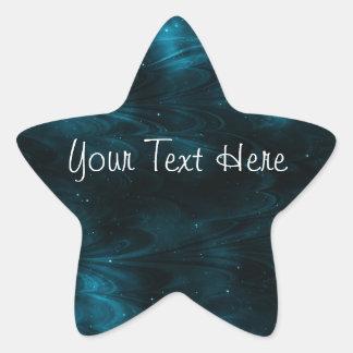 Textura abstracta de la nebulosa - azul pegatina en forma de estrella