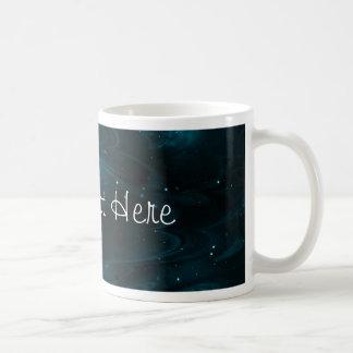 Textura abstracta de la nebulosa - azul taza de café