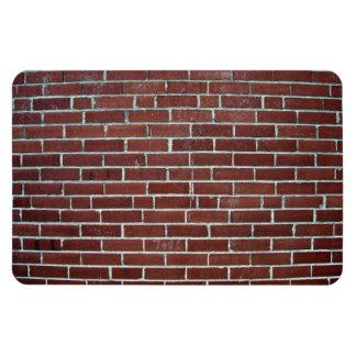 Textura abstracta de la pared de ladrillo marrón iman rectangular
