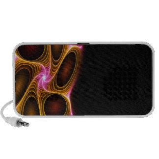 Textura abstracta del fractal que brilla intensame laptop altavoz