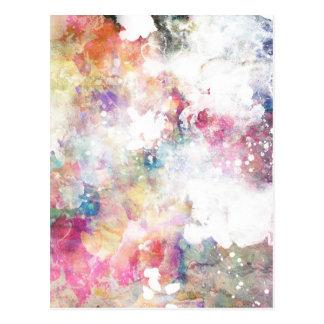 Textura abstracta del grunge con la pintura 2 de l tarjeta postal