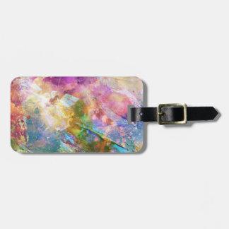 Textura abstracta del grunge con la pintura 3 de l etiquetas para equipaje