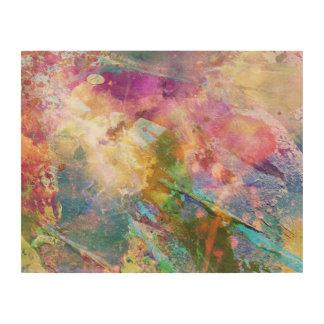 Textura abstracta del grunge con la pintura 3 de l impresión en madera