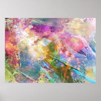 Textura abstracta del grunge con la pintura 3 de l impresiones