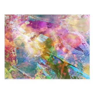 Textura abstracta del grunge con la pintura 3 de l tarjeta postal
