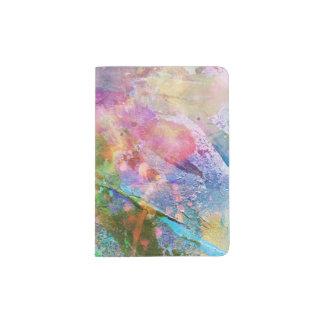 Textura abstracta del grunge con la pintura 3 de porta pasaporte