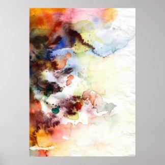 Textura abstracta del grunge de la acuarela con la póster