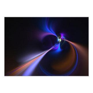 Textura abstracta del vórtice del fractal invitaciones personales