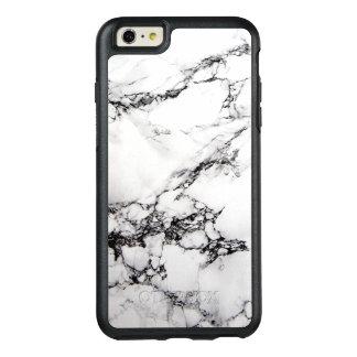 Textura abstracta hermosa de mármol blanca funda otterbox para iPhone 6/6s plus