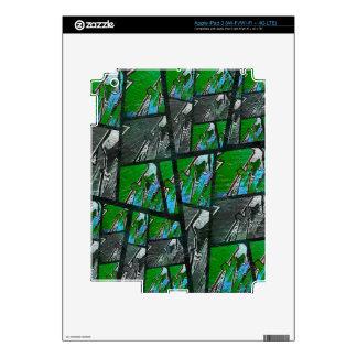 Textura abstracta negra verde loca iPad 3 pegatina skin