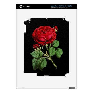Textura abstracta roja hermosa subió pegatinas skins para iPad 3