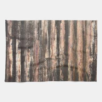 Textura acanalada aherrumbrada del metal toallas