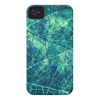Textura agrietada aguamarina del Grunge del modelo Case-Mate iPhone 4 Carcasa