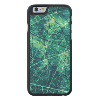 Textura agrietada aguamarina del Grunge del modelo Funda De iPhone 6 Carved® De Arce