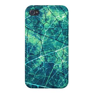 Textura agrietada aguamarina del Grunge del modelo iPhone 4/4S Funda