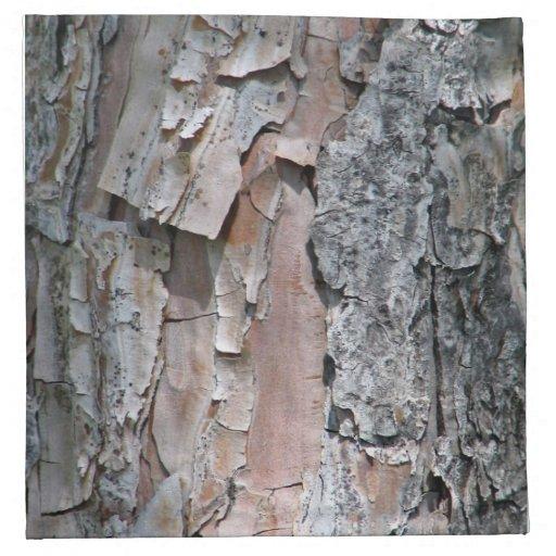 Textura agrietada de la corteza servilleta imprimida