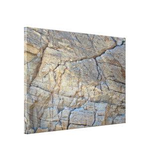 Textura agrietada de la roca de la montaña impresiones en lienzo estiradas