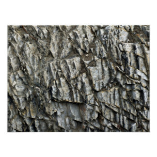 Textura agrietada de la roca posters