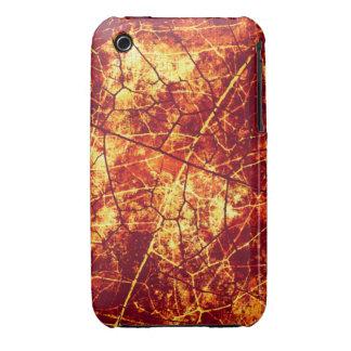 Textura agrietada roja oxidada del Grunge del iPhone 3 Case-Mate Carcasas