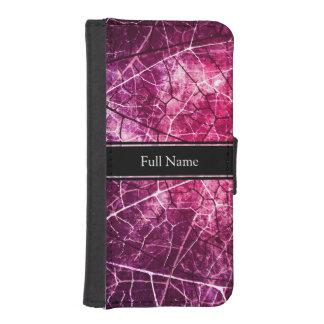 Textura agrietada rosada del Grunge del modelo de Billeteras Para Teléfono