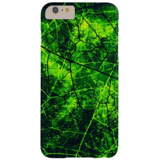 Textura agrietada verde del Grunge del modelo de Funda Para iPhone 6 Plus Barely There
