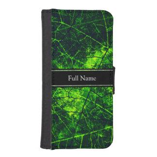 Textura agrietada verde del Grunge del modelo de Fundas Billetera De iPhone 5