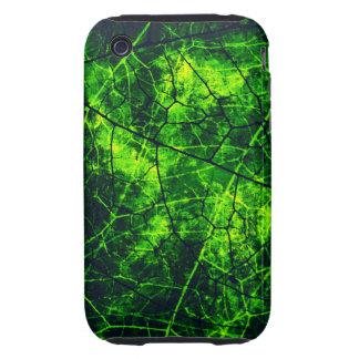 Textura agrietada verde del Grunge del modelo de iPhone 3 Tough Carcasa