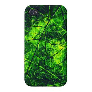 Textura agrietada verde del Grunge del modelo de iPhone 4/4S Carcasa