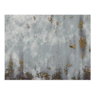 Textura aherrumbrada de la pared postal