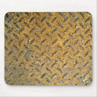 Textura aherrumbrada de la pisada del metal amaril alfombrillas de raton