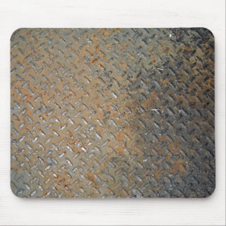 Textura aherrumbrada de la pisada del metal tapetes de ratones