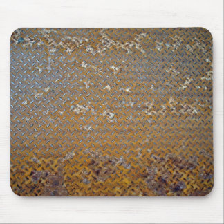 Textura aherrumbrada de la pisada del metal tapetes de raton