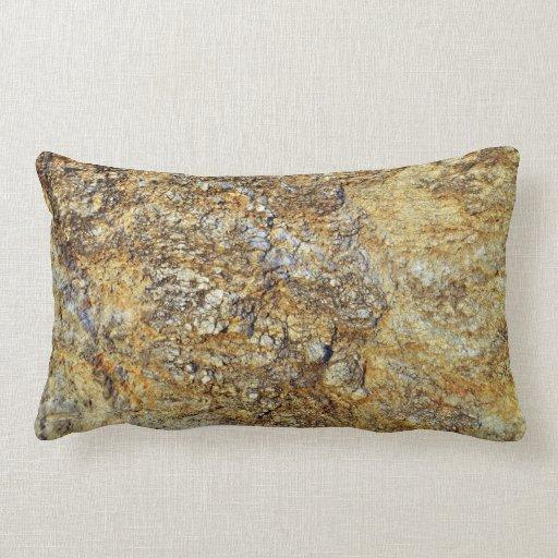 Textura amarilla de la roca almohadas