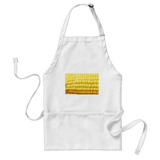 Textura amarilla del maíz en la mazorca delantal