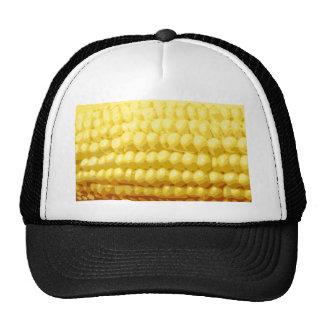 Textura amarilla del maíz en la mazorca gorro de camionero